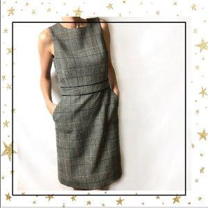J.McLaughlin Sleeveless plaid knee length dress C5